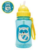 Skip Hop Zoo Straw Bottle - Raccoon