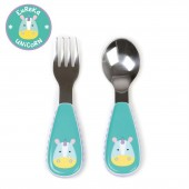 Skip Hop Zoo Mealtime Utensils (Fork & Spoon) - Unicorn