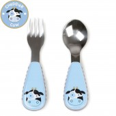 Skip Hop Zoo Mealtime Utensils (Fork & Spoon) - Cow