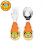Skip Hop Zoo Mealtime Utensils (Fork & Spoon) - Dog