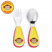 Skip Hop Zoo Mealtime Utensils (Fork & Spoon) - Monkey