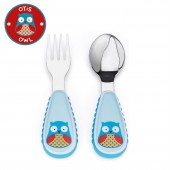 Skip Hop Zoo Mealtime Utensils (Fork & Spoon) - Owl