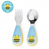 Skip Hop Zoo Mealtime Utensils (Fork & Spoon) - Bee