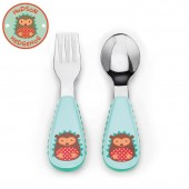 Skip Hop Zoo Mealtime Utensils (Fork & Spoon) - Hedgehog