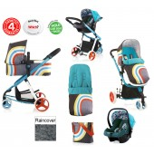 Cosatto Giggle 2 Combi 3 in 1 Travel System - New Wave / Duck Egg