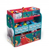 Delta Children Wooden Frame Multi-Bin Toy Organiser - Disney Pixar Finding Dory