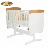 Obaby B Is For Bear Gliding Crib & Foam Mattres - White (With Pine Trim)