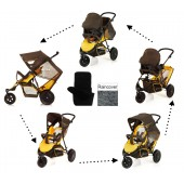 Hauck Freerider Shop n Drive Travel System - Brown