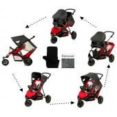Hauck Freerider Shop n Drive Travel System - Red