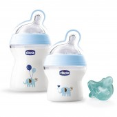 Chicco Natural Feeling Gift Set - Blue
