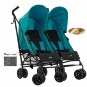 OBaby Apollo Twin Pushchair (Special Edition) - Turquoise
