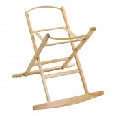 4baby Deluxe Folding Moses Basket Rocking Stand - Natural
