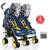 Cosatto Supa Dupa Go Twin Stroller - Rev Up