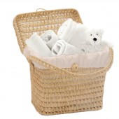 Clair De Lune Laura Waffle Nursery Basket - Cream