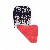 Maclaren Universal Reversible Pram / Pushchair Seat Liner - Dripping Diamonds / Navy Scarlet