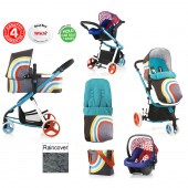 Cosatto Giggle 2 Combi 3 in 1 Travel System - New Wave / Apple Seed