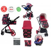 Cosatto Giggle 2 Combi 3 in 1 Travel System - Flamingo Fling / Apple Seed