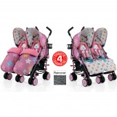 Cosatto Supa Dupa Twin Stroller - Happy Stars