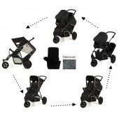 Hauck Freerider Shop n Drive Travel System - Black