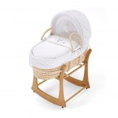 East Coast Rocking Moses Basket Stand - Antique