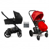 Joie Chrome Plus Carrycot & Pushchair Black Frame - Tomato Red