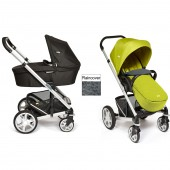 Joie Chrome Plus Carrycot & Pushchair Silver Frame - Green