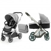 BabyStyle Oyster 3 in 1 Pushchair & Carrycot With Changing Bag  - Silver Mist on Mirror