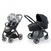BabyStyle Oyster 3 in 1 Pushchair & Carrycot  - Black / Black Aztec