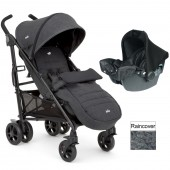 Joie Brisk LX (Juva) Travel System With Footmuff - Pavement