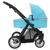 BabyStyle Oyster Max Chassis & Carrycot - Smooth Black / Ocean