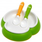 Baby Bjorn Bowl And Spoons Feeding Set - Green