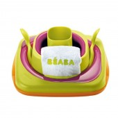 Beaba Baby's 6 Piece First Dinner Set - Plum / Green