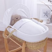 4baby Palm Moses Basket - Twinkle White