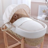 4baby Palm Moses Basket - Twinkle Cream