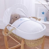 4baby Palm Moses Basket - Twinkle Blue