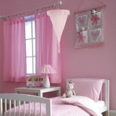 Baroo Tab Top Childrens Nursery Curtains - Pink Gingham