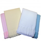 Bee Bo Deluxe Baby Blanket Shawl - Cream