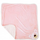 Pitter Patter Luxury Wrap Baby Blanket - Pink Bear