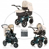 Hauck Viper Trio Set 3 in 1 Travel System - Caviar / Beige