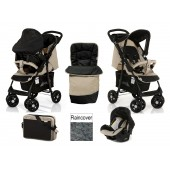 Hauck Deluxe Shopper Shop n Drive Travel System + Accessories - Almond / Caviar