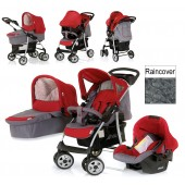 Hauck Shopper Trio Set Travel System - Smoke / Tango