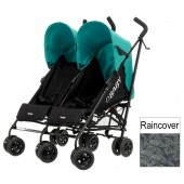 OBaby Apollo Twin Pushchair - Black / Turquoise