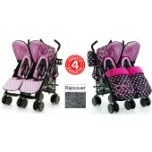 Cosatto Supa Dupa Twin Stroller - Bow How