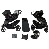 Graco Trekko Duo Tandem Travel System + Accessories - Sport Luxe