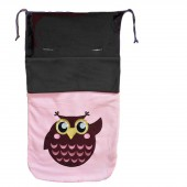 Cuddles Collection Fleece Footmuff - Pink Owl