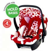 Cosatto Hold Giggle Group 0+ Car Seat - Red Bubble