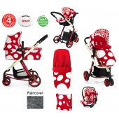 Cosatto Giggle 3 in 1 Combi Travel System - Red Bubble