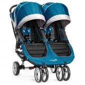 New 2014 Baby Jogger City Mini Double Stroller - Teal