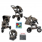 Chicco Activ3 3 Wheeler Travel System - Beige