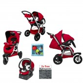Chicco Activ3 3 Wheeler Travel System - Red Wave